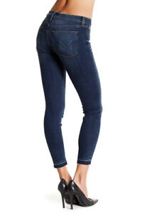 dec12c50 NWT HUDSON Krista Ankle Super Skinny Mid-Rise Jeans/Raw Hem Size 32 ...