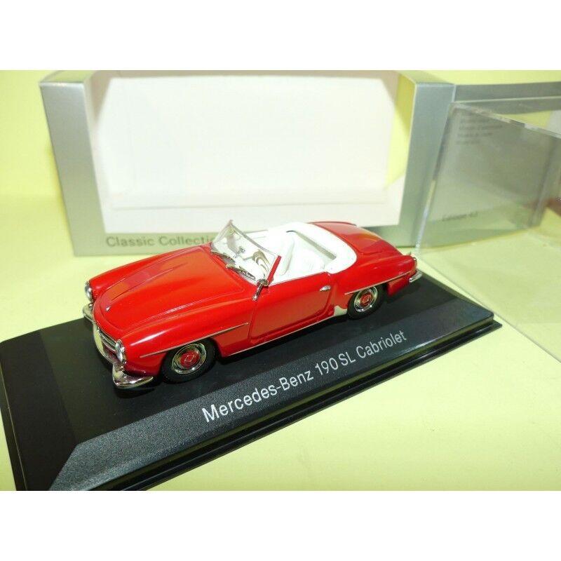 MERCEDES 190 SL CABRIOLET W121 Rouge MINICHAMPS 1 43