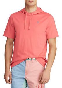 Polo-Ralph-Lauren-Mens-HOODED-T-shirt-RED-100-Soft-Cotton-XLT-2XLT-3XLT-4XB-NEW