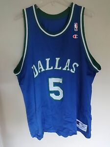Vintage 90 s Champion Jason Kidd   5 Dallas Mavericks Men 48 ... 02818df26