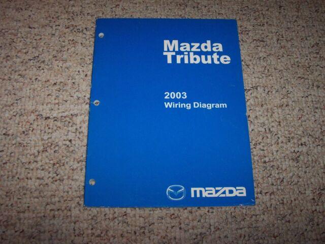 2003 Mazda Tribute Factory Original Electrical Wiring ...