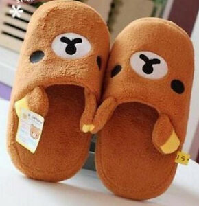 FD4307-Women-Girl-Slipper-San-X-Rilakkuma-Relax-Bear-Brown-Home-Slipper-1-Pair