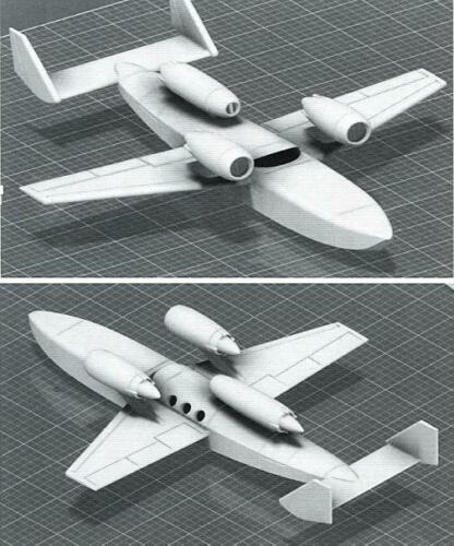 Unicraft Models 1//72 CONVAIR SUBMERSIBLE SEAPLANE 1960s U.S Navy Project