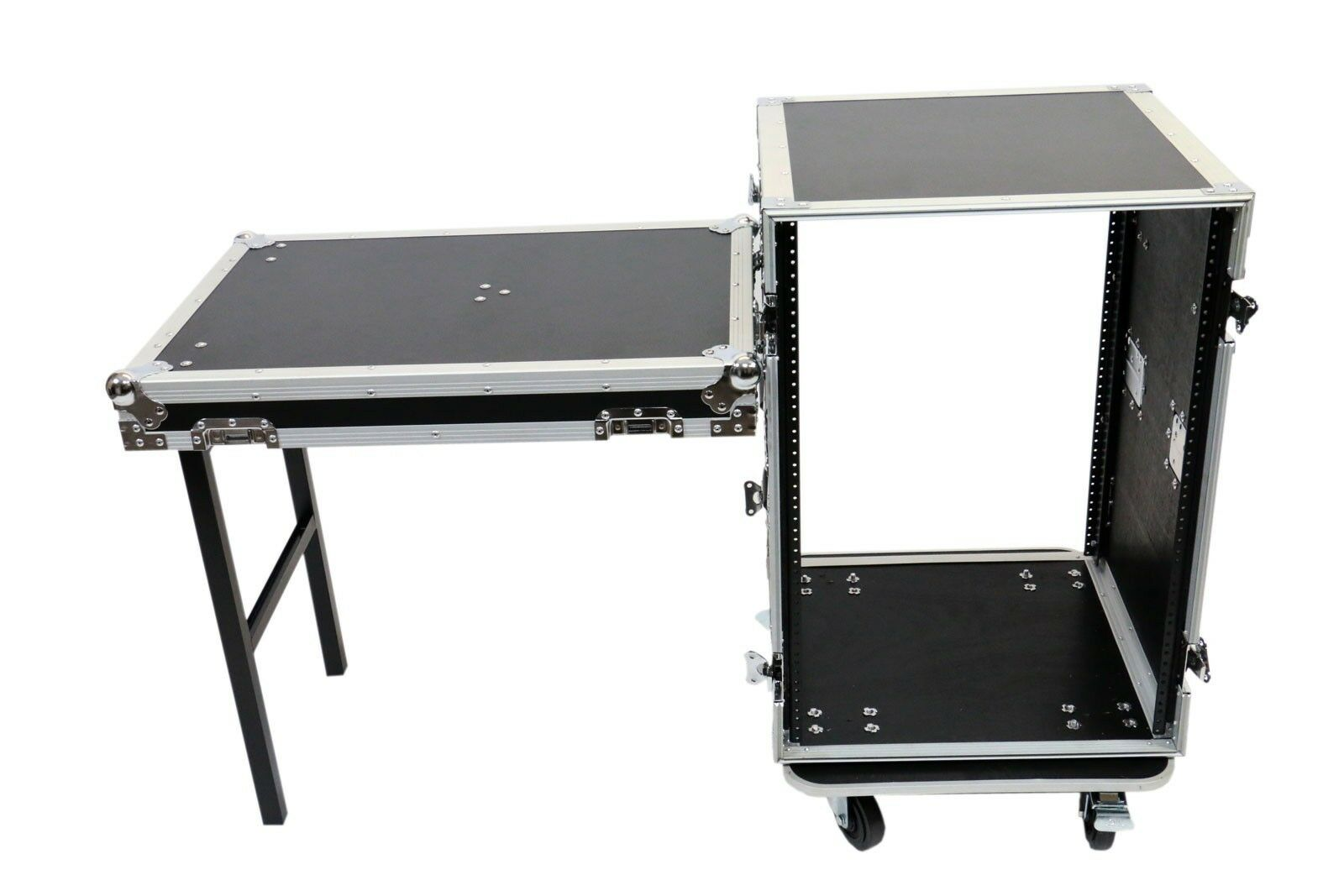 16 Space Amp ATA Rack Road Case w Lid Table by OSP