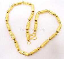 fashion1uk 24K Yellow Gold Plated Mens Big Hexagon Chain Necklace Bling 55cm
