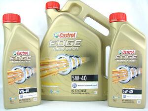 Aceite-de-Motor-5W40-7liter-Castrol-Edge-Turbo-Diesel-5W-40-VW-BMW-MB-Opel-Audi
