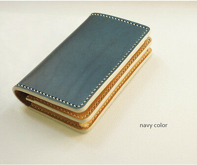 dex leather Wallet Leather Card Case Business Cards Case [Stamping service]