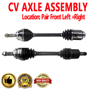 Pair Front CV Axle Shaft for ECLIPSE 06-12 GALANT 05-09 V6 3.8L FWD