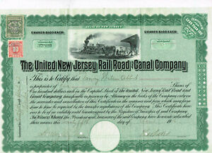 United-New-Jersey-Rail-Road-and-Canal-Co-1916-Steuermarken-VF