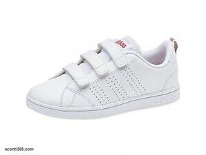 buy online f0e21 b68a2 Bambina BB9978 Adidas Scarpe Vs Advantage Clean CMF C Art Bianco Rosa