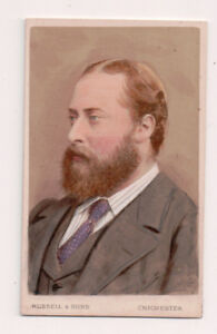 Vintage-CDV-King-Edward-VII-Great-Britain-Russell-amp-Sons-Photo-Hand-Tinted