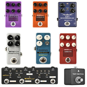 MOSKY Guitar Multi Effect Pedal Reverb Delay Looper Overdrive Distortion Chorus