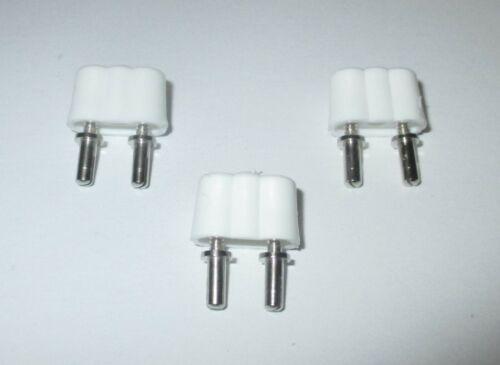 Kahlert Stecker für Puppenhaus-Krippenbeleuchtung weiß   3 Stück  NEU