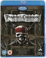 The Complete Pirates of the Caribbean 1-4 Blu Ray BoxSet CARIBEAN 1 2 3 4 UK A/B