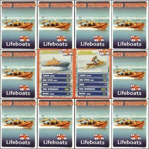 Top-Trumps-Single-Cards-RNLI-Lifeboat-Coastal-Rescue-Life-Savers-Various-FB3
