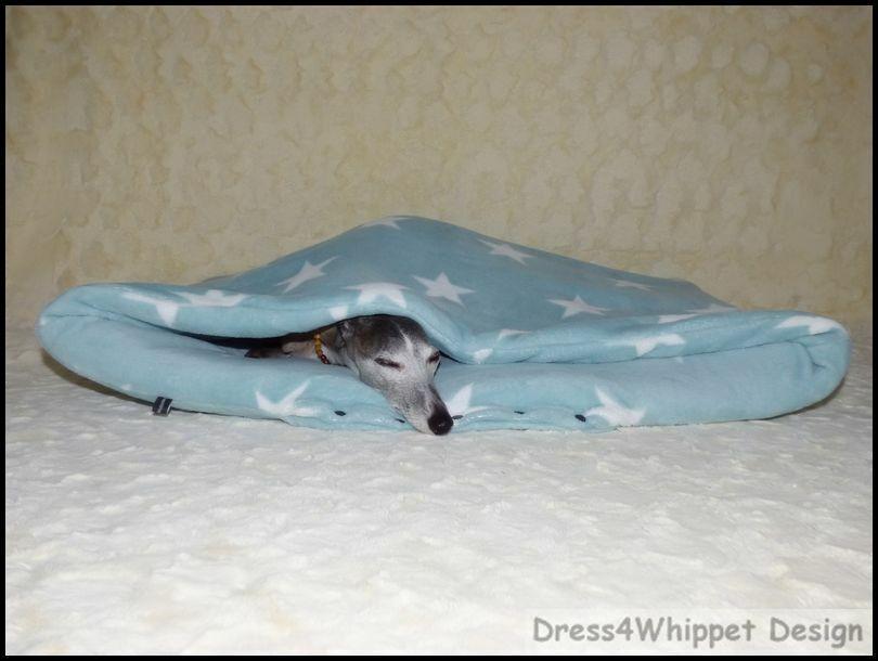 Kuschelhöhle für Windhund & Co. - Microfaser  Sterne   -°Das Original°