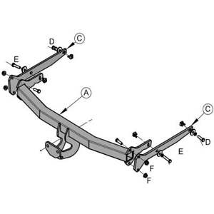 Flange Tow Bar Towbar for Ford C-Max MPV 2010 Onwards
