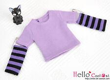 ☆╮Cool Cat╭☆228.【NT-2】Blythe Pullip(Separate Sleeves)Tee # Stripe Purple