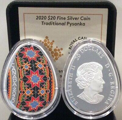 2017 Canada Traditional Ukrainian Pysanka $20 Egg Shaped Silver Coin   In Stock
