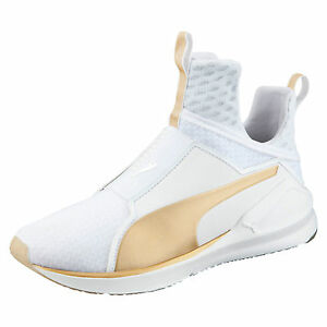 PUMA FUMA FIERCE GOLD Blanc Or Baskets White Sneakers Fenty Rihanna