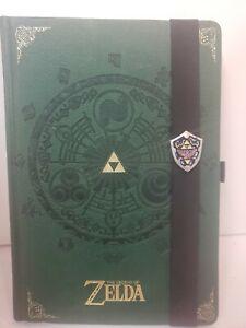 The Legend of Zelda Premium Journal A5 Notebook Green Crest of Hyrule Hardcover