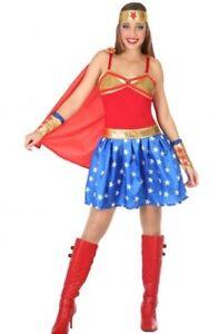 Déguisement Femme Wonder Woman Xs/s 36/38 Super Héro Cinéma Comics Neuf Pas Cher Texture Nette