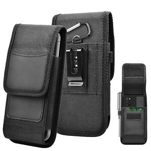 Vertical Cell Phone Pouch Belt Clip Case Card Phone Holder Holster Cover Buckle