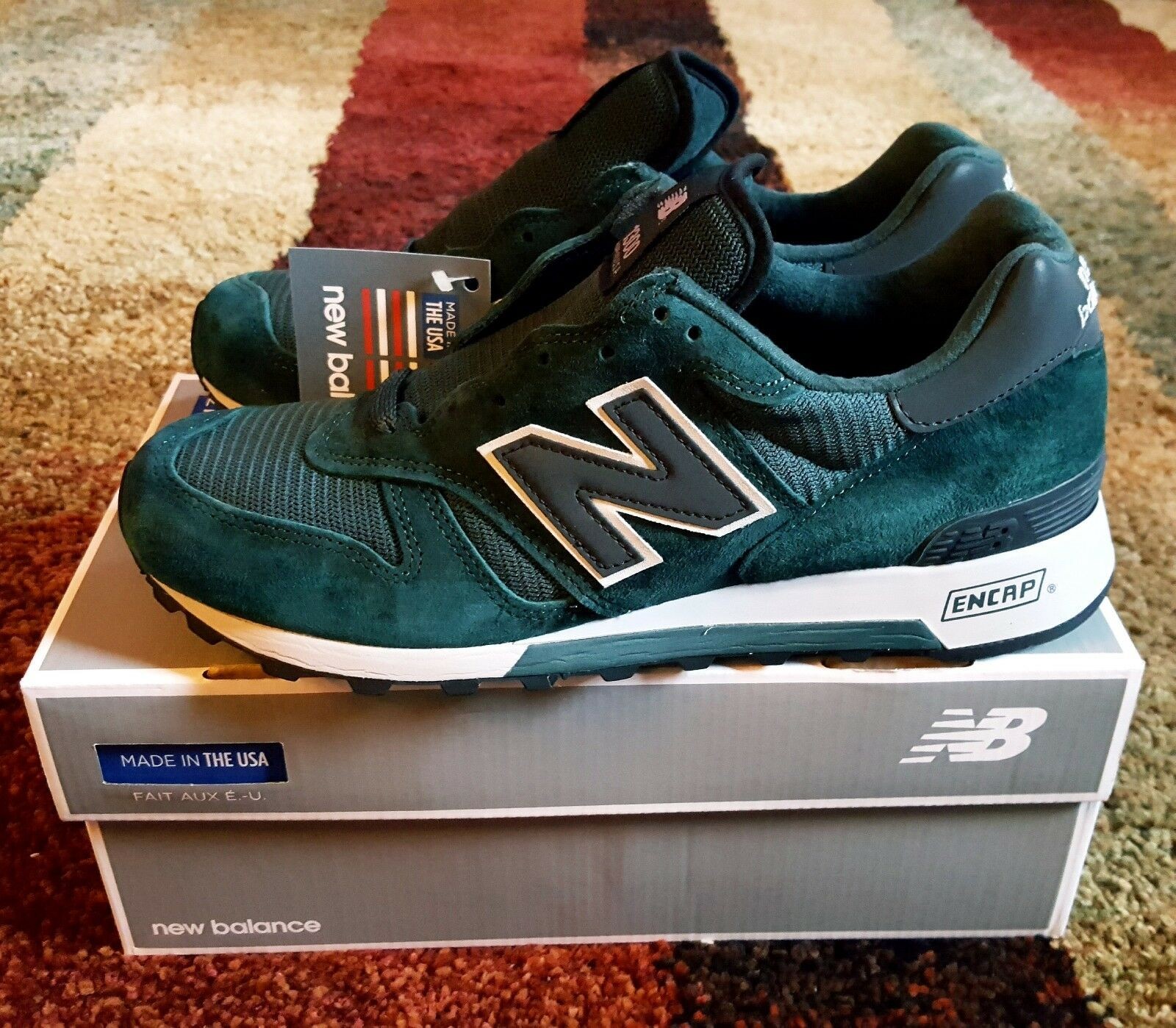 NEW BALANCE 1300CAG 1300CAG 1300CAG  MADE IN USA ISLAND GREEN  SZ, 9.5 cc9665