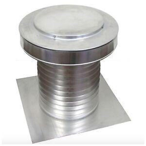 Aluminum-Flat-Roof-Exhaust-Static-Vent-Attic-Ventilation-Cap-Moisture-Ventilator