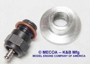 K&B GLOW PLUG ADAPTOR NorVel 074 Aero & Heli engine - Qty of 2 - NEW 911-074
