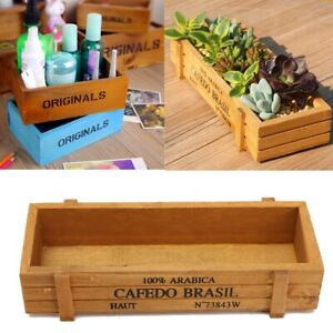 Handmade Succulent Plants Antique Storage Vintage Wooden Boxes//Crates Trays