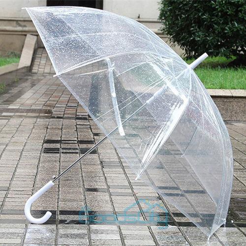 Fashion Transparent Clear Rain Umbrella Parasol Dome for Wedding Party Favor USA
