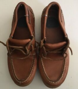 DOCKERS-Brown-Leather-Casual-Boat-Shoes-Mens-Size-7