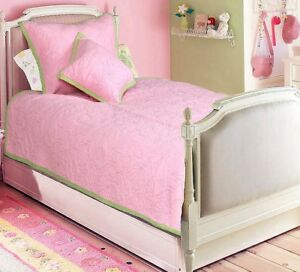 Pink-Ocean-100-Cotton-Twin-Size-Quilt-Set-Bedspread-Coverlet