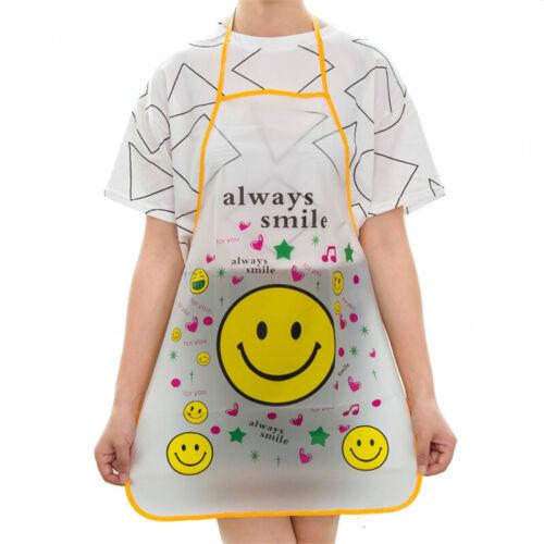 Women Childrens Waterproof Cartoon Kitchen Cooking Bib Apron Baking School Gift