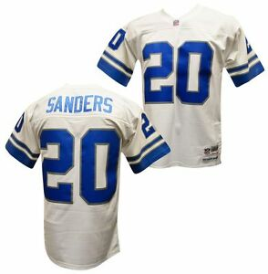 Image is loading Barry-Sanders-Detroit-Lions-White-1996-Mitchell-amp- 6c994d027