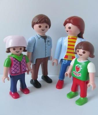 Playmobil Modern Ethnic Holiday Beach Family Mum Dad Children Park Dolls House