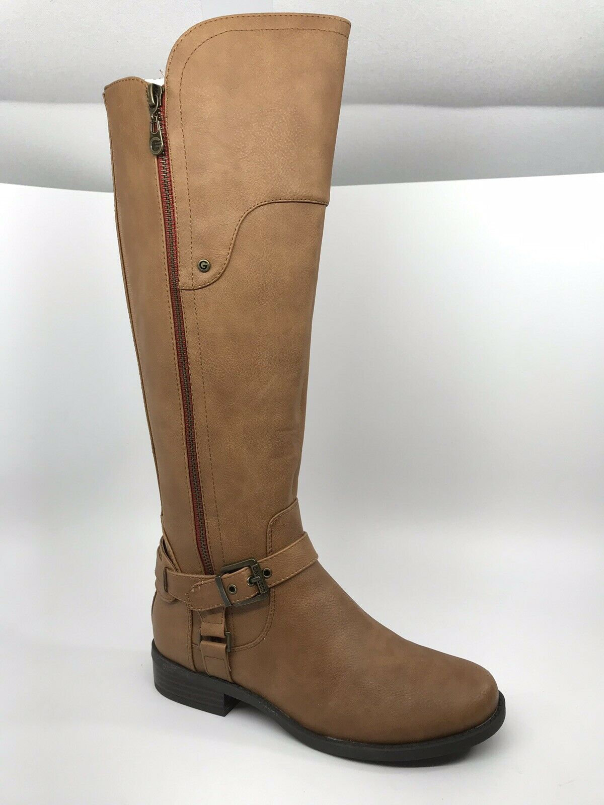 G by GUESS Harson Tall Riding Boots Womens Size 7 M Light Brown NEW