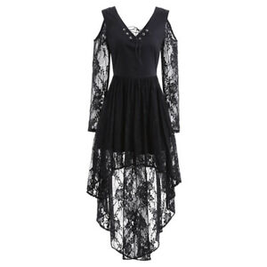 Fashion-Women-039-s-Sexy-Lace-Floral-Casual-Long-Party-Evening-Cocktail-Mini-Dress