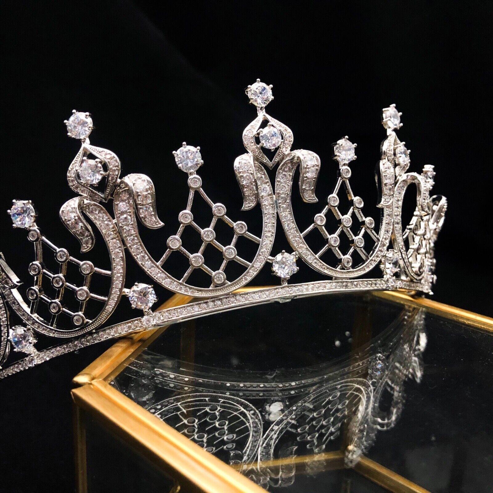 The Elizabeth Schneider, Mike Todd, Luxury CZ Sparkling Artificial Diamond Tiara