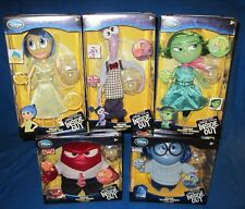 Disney Store Inside Out Deluxe Talking Sadness Anger Fear Joy Disgust Set NEW