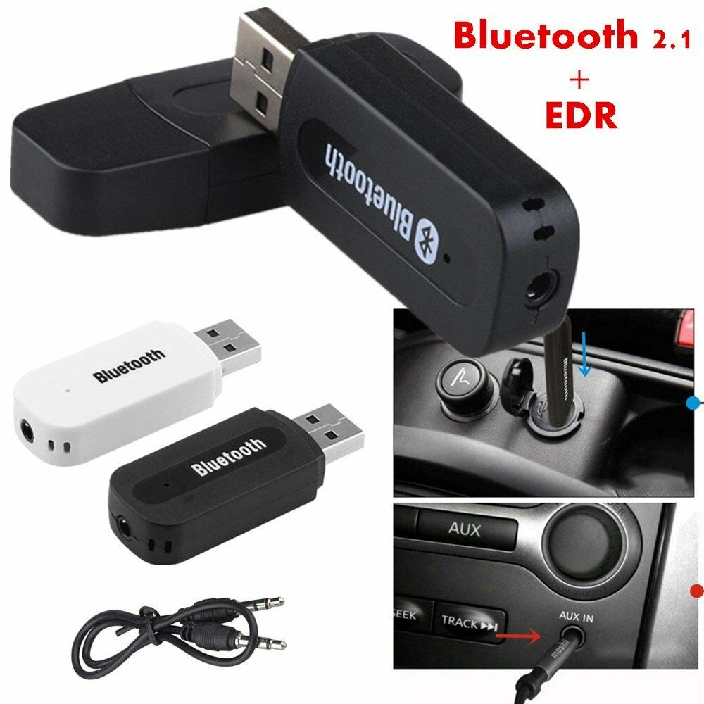 EDR USB AUX Audio Music Receiver Adapter Lot 3.5mm Wireless Bluetooth 2.1