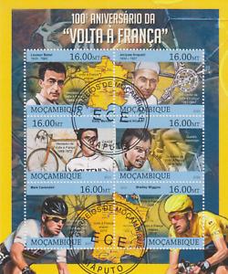 Tour de France Mosambik gestempelt 3076