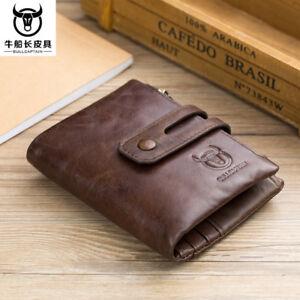 High-Capacity-Men-Genuine-Leather-Cowhide-Wallet-Bifold-Coin-Hi-Q-Card-Holder