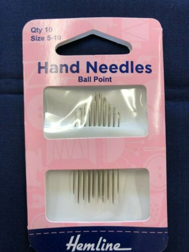 Hemline Hand Needles ~ BALL POINT Size 5-10