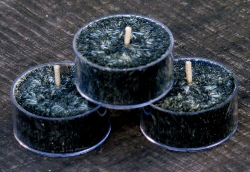 10pk Floral BLACK GARDENIAS Triple Scented CRYSTAL TEA LIGHT CANDLES 60 hrs//pack