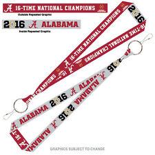 Alabama Crimson Tide 2016 CFP Champions Lanyard Key Chain 2015 National Champ