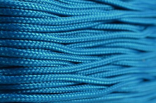 Made in the USA Type 1 95 Cord 1.59mm 100ft Nylon Rope Caribbean Blue