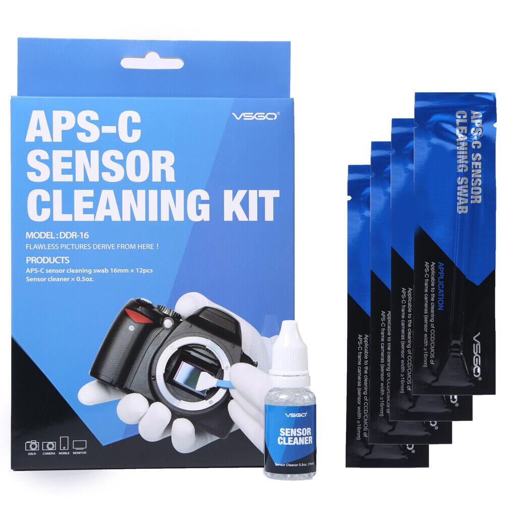 VSGO Camera Sensor Cleaning Kit DDR-16 CMOS CCD Cleaner Sensor Swabs for DSLR