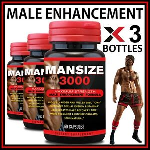 180 MALE ENLARGER GROWTH CAPSULES BIGGER LONGER THICKER HUNG SIZE LENGTH ENHANCE